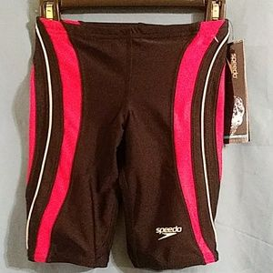 Speedo Powerflex Swim Jammer sz 26 Race 2 Tech
